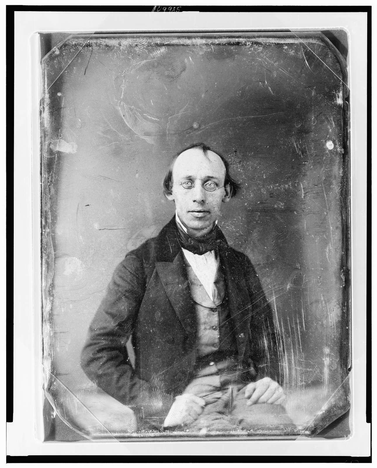 [Cornelius Mathews, half-length portrait, facing front, wearing spectacles]