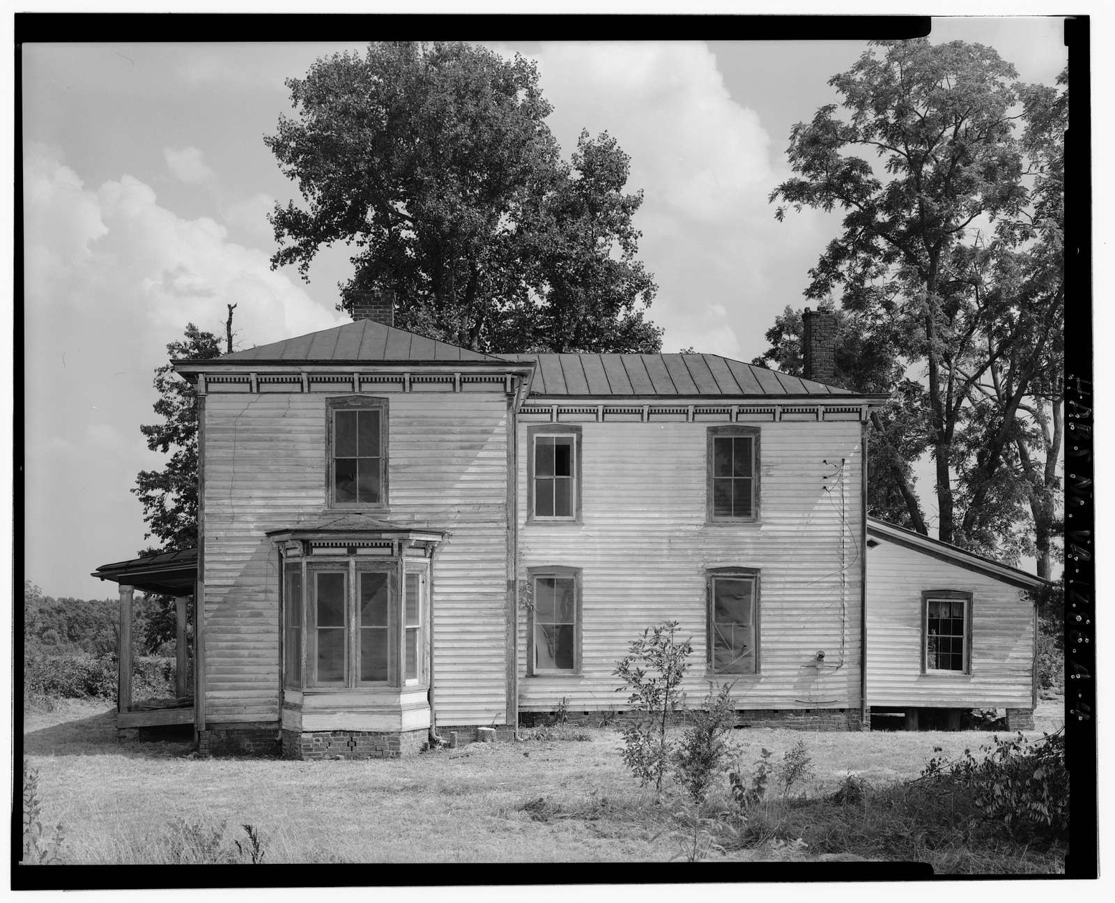 Fort Hill Farm, Mansion, West of Staunton (Roanoke) River between Turkey & Caesar's Runs, Clover, Halifax County, VA