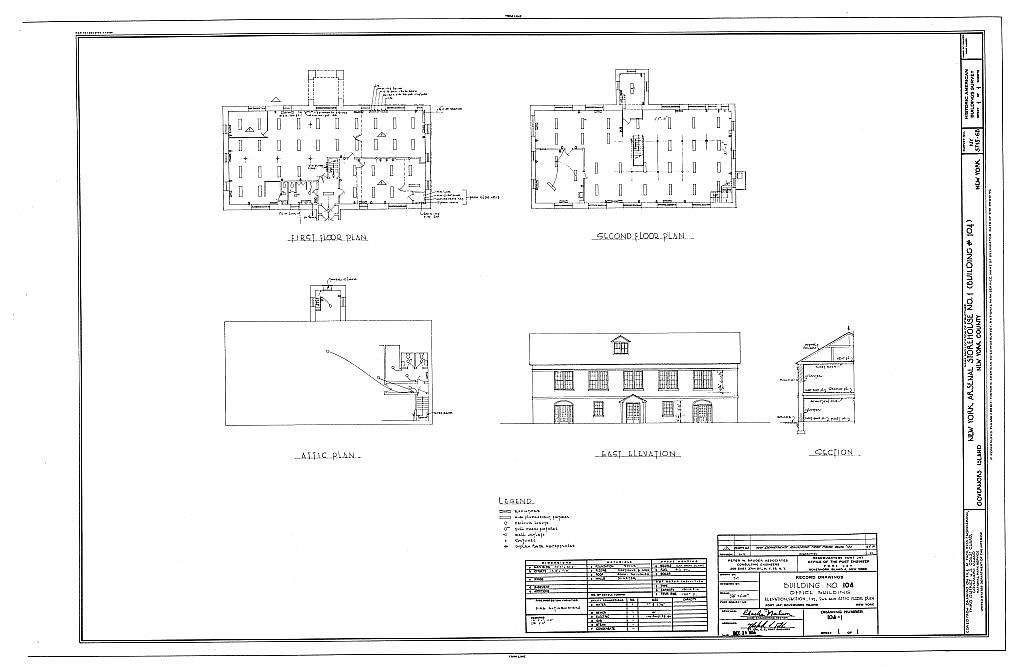 Governors Island, New York Arsenal, Storehouse No. 1, New York Harbor near Andes Road, New York, New York County, NY