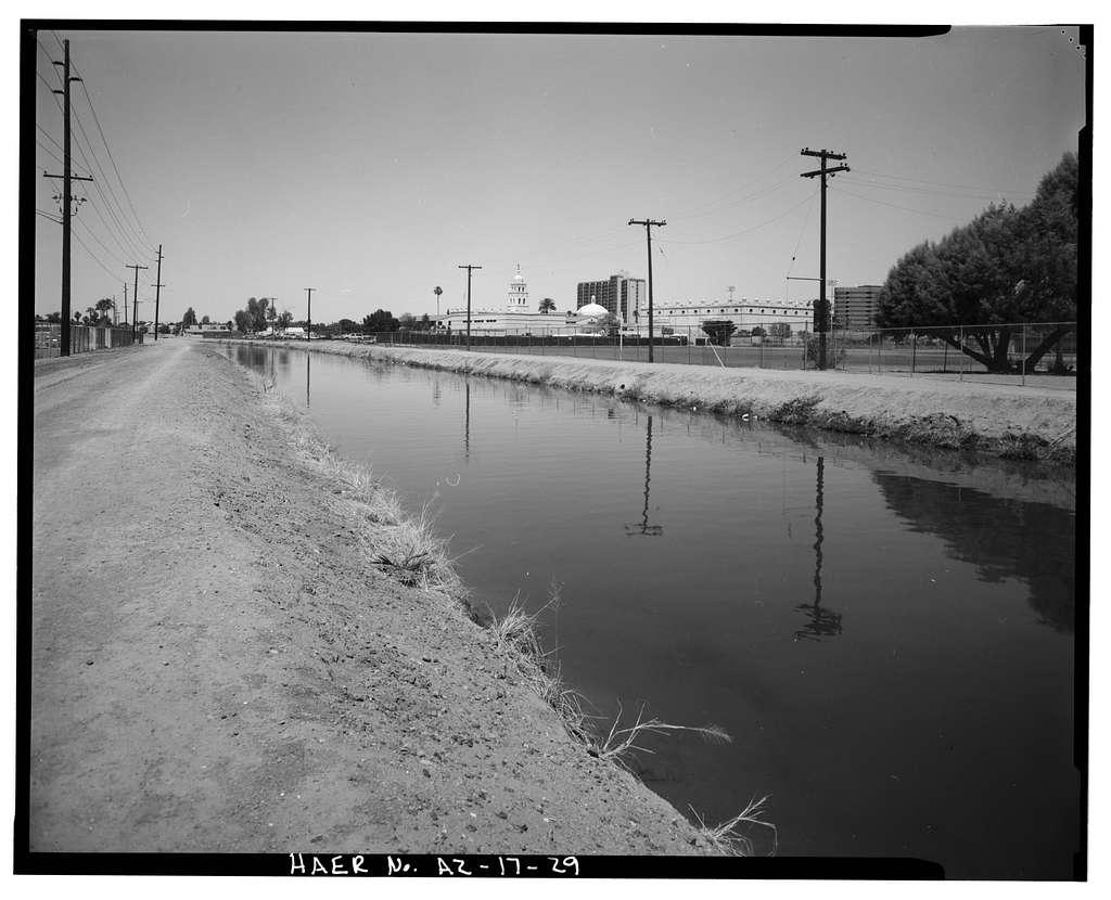 Grand Canal, North side of Salt River, Tempe, Maricopa County, AZ