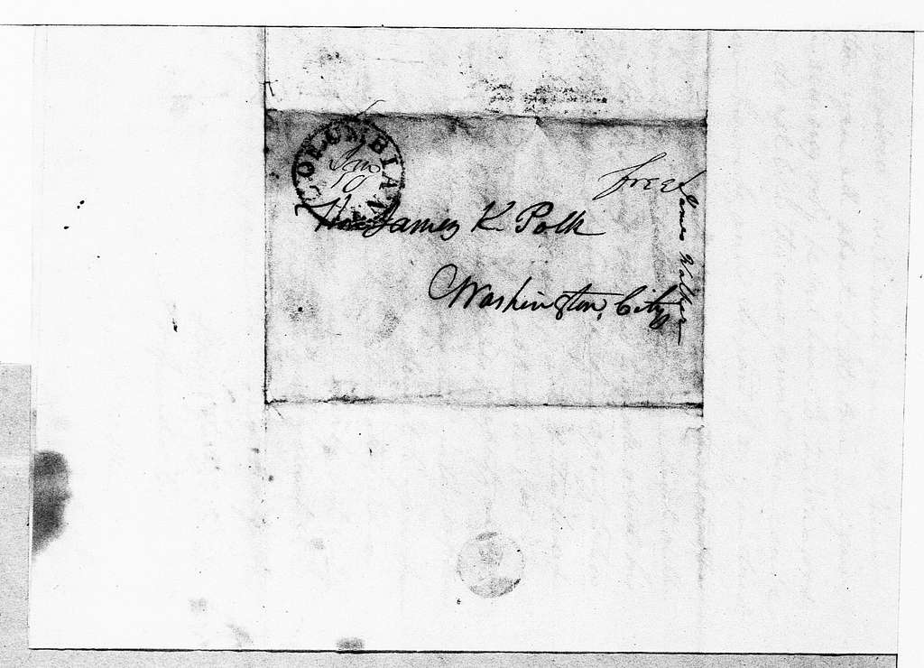 James K. Polk Papers: Series 2, General Correspondence and Related Items, 1775-1849; 1833, Jan. 17-1834, Jan. 20