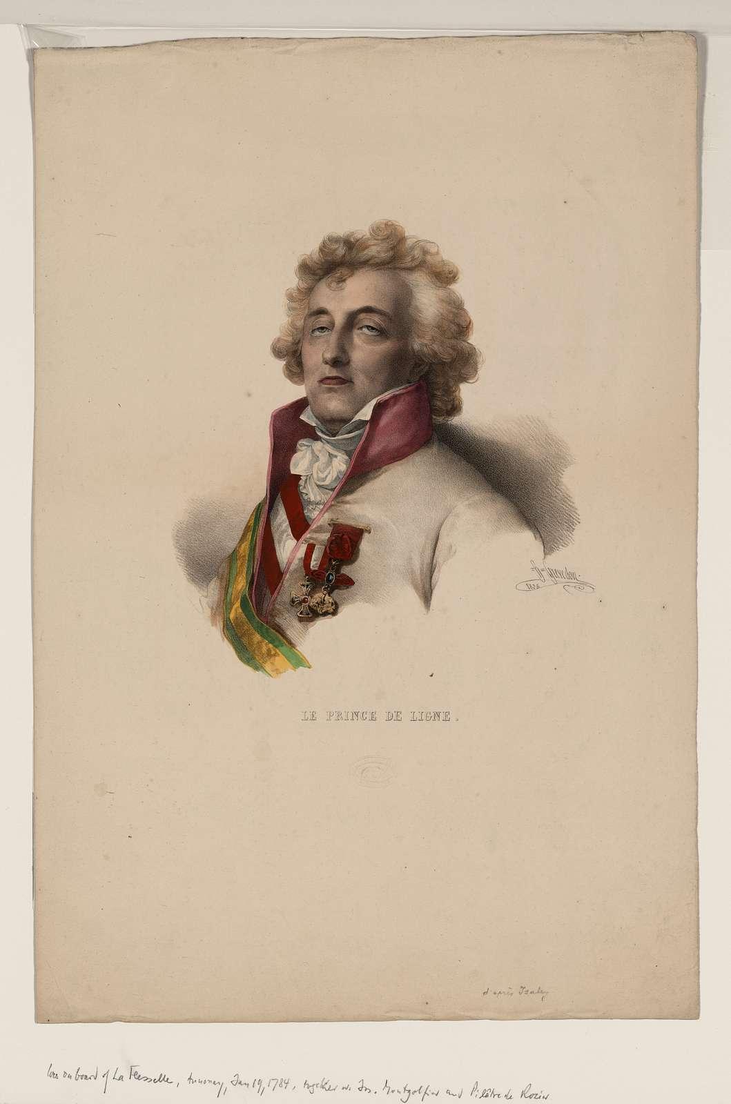 Le prince de Ligne / H. Grevedon, 1825.