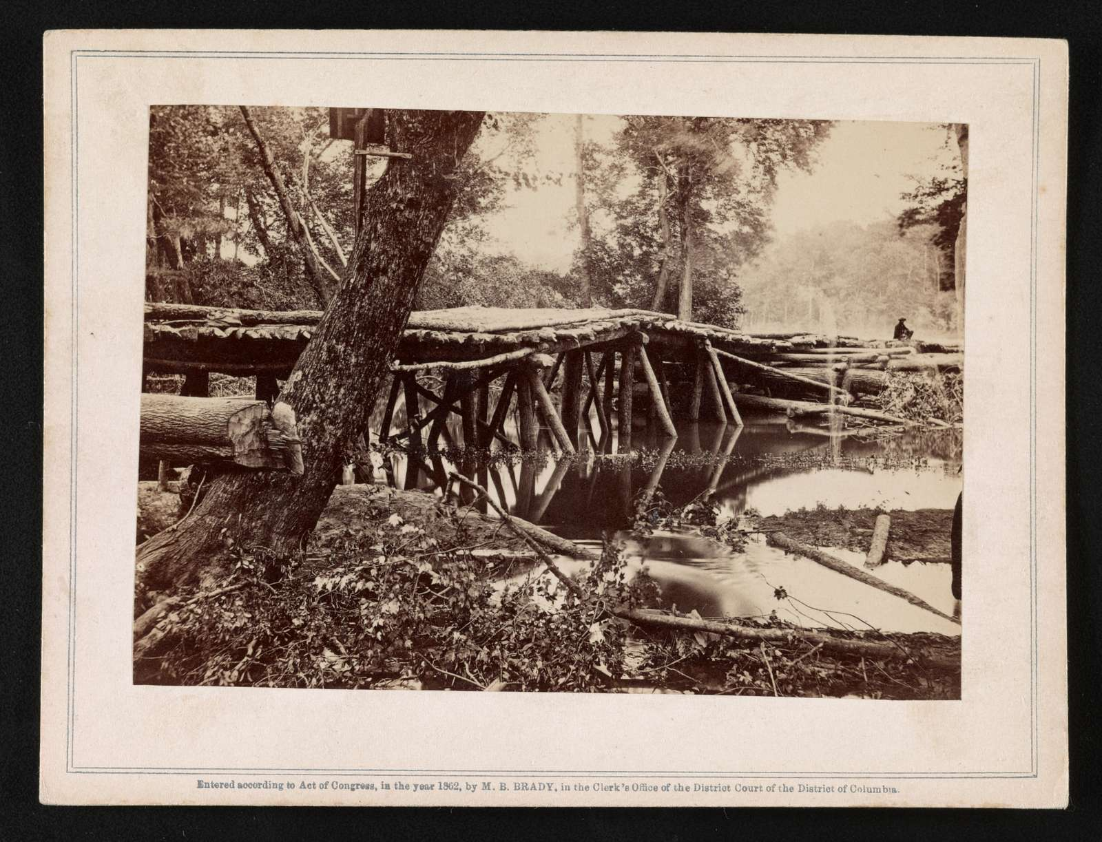 Military bridges across the Chickahominy, built by the 15th N. Y. V. Engineers, Col. Murphy