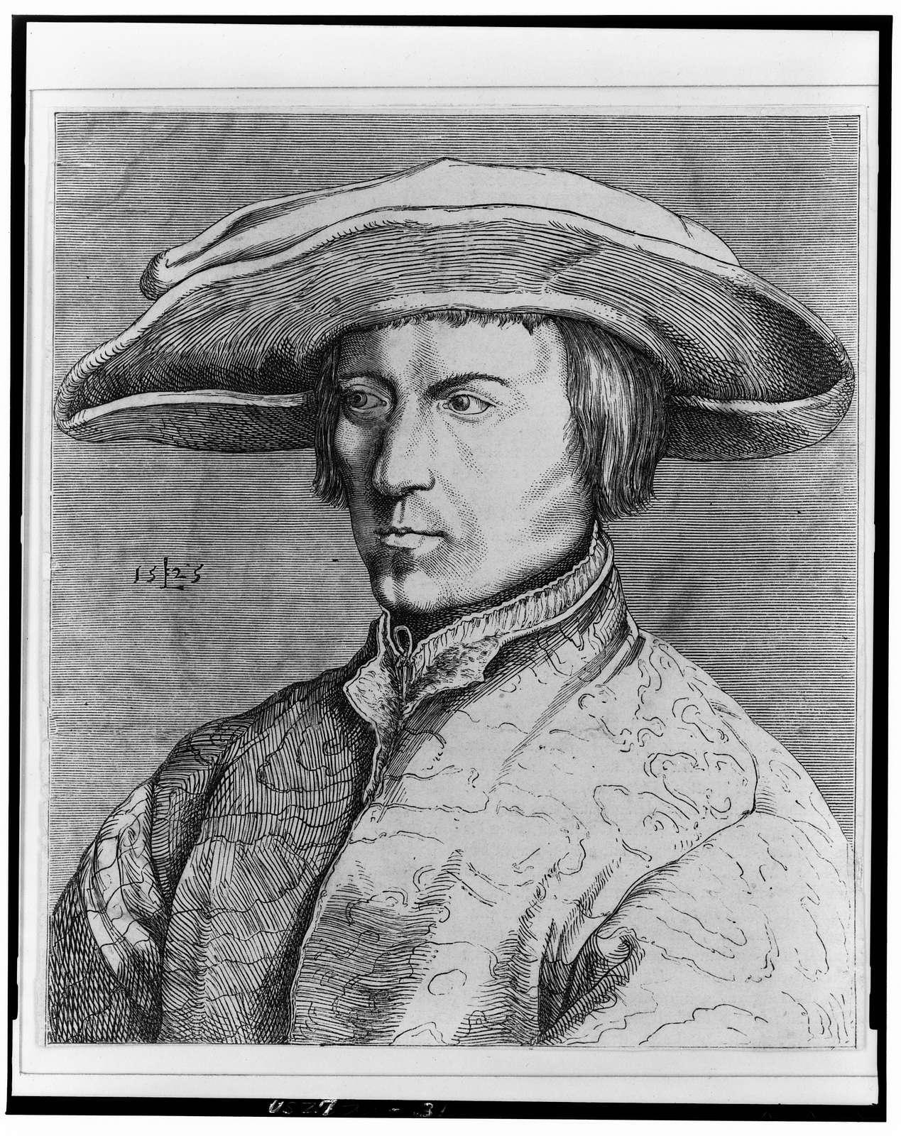 [Portrait of Lucas van Leyden] / L [monogram].