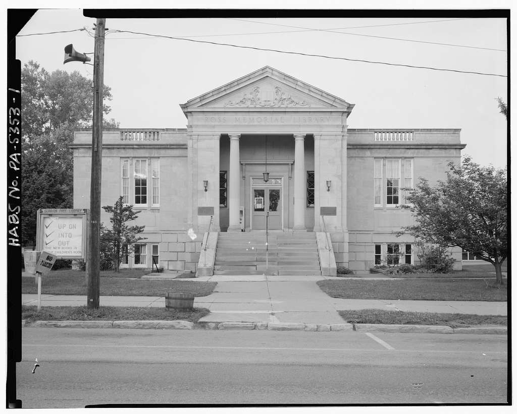 Ross Memorial Library Building, Main Street between Sixth & Seventh Avenues, 1 mile north of Interstate 80, Exit 9, Clarion, Clarion County, PA