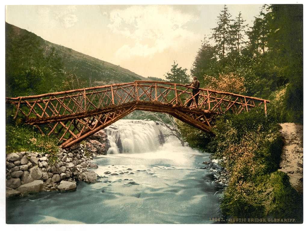 [Rustic Bridge in Glenariff. County Antrim, Ireland]