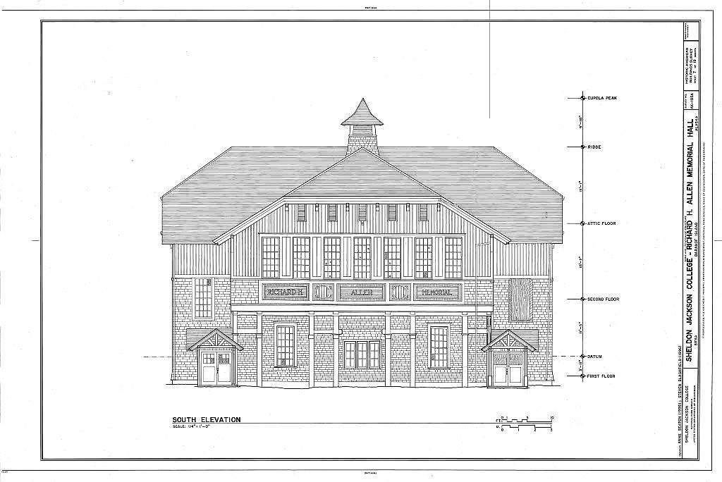 Sheldon Jackson College, Richard H. Allen Memorial Hall, Lincoln Street, Sitka, Sitka Borough, AK