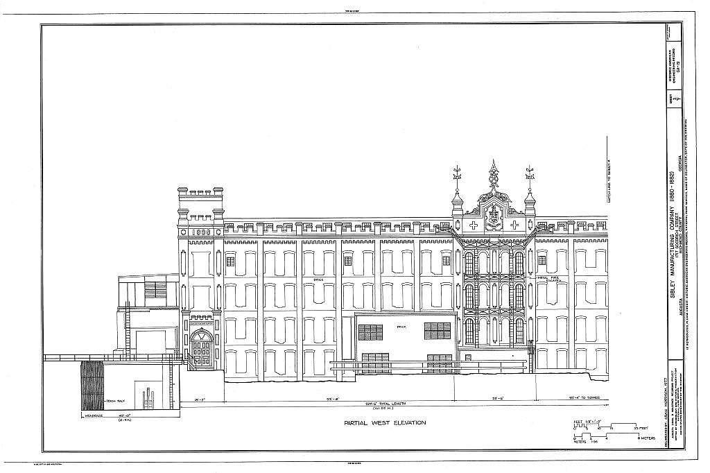 Sibley Manufacturing Company, 1717 Goodrich Street, Augusta Canal, Augusta, Richmond County, GA