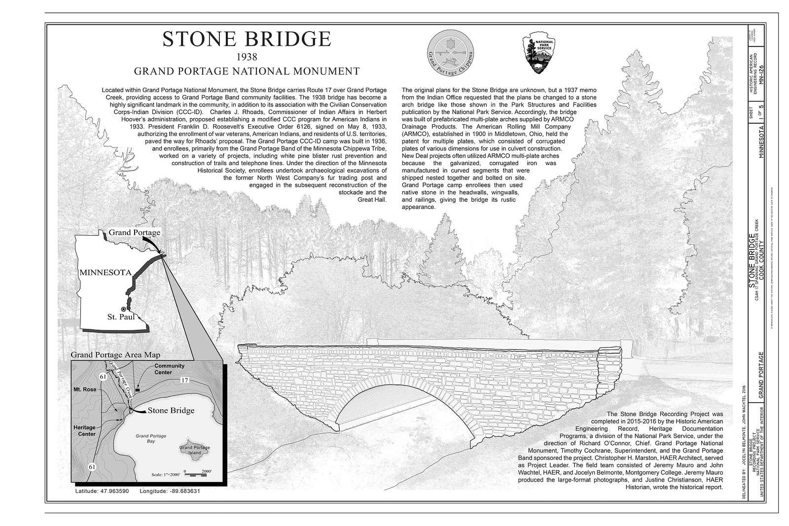 Stone Bridge, CSAH 17 spanning Grand Portage Creek, Grand Portage, Cook County, MN
