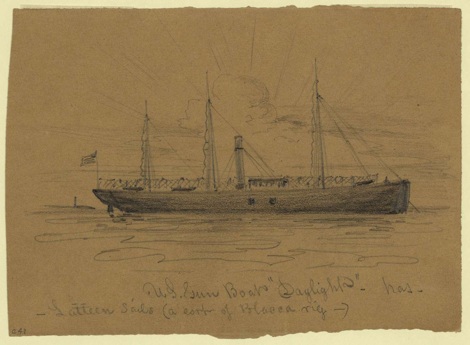 "U.S. Gun Boat ""Daylight"""