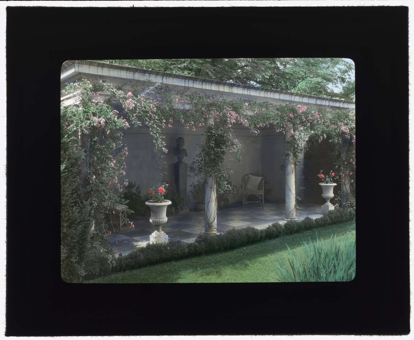 "[""Chatham,"" Colonel Daniel Bradford Devore house, 120 Chatham Lane, Fredericksburg, Stafford County, Virginia. Porch]"