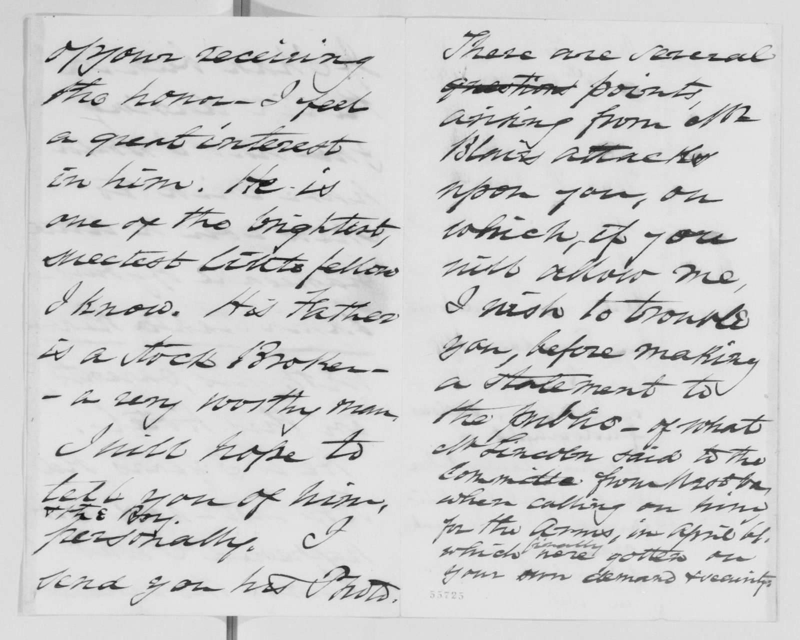 Edwin McMasters Stanton Papers: Correspondence, 1831-1870; 1865; 1865, Sept. 27-1866, Mar. 9