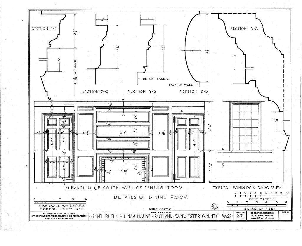 General Rufus Putnam House, Main Street, Rutland, Worcester County, MA