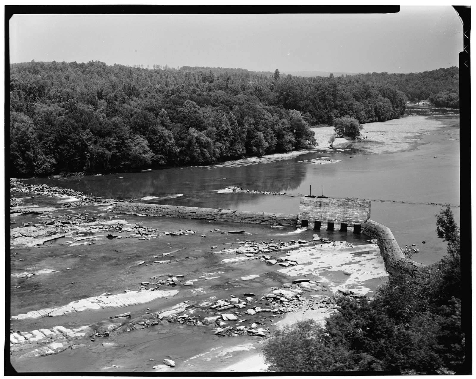 Gregg Shoals Dam & Power Plant, Across Savannah River, Lowndesville, Abbeville County, SC