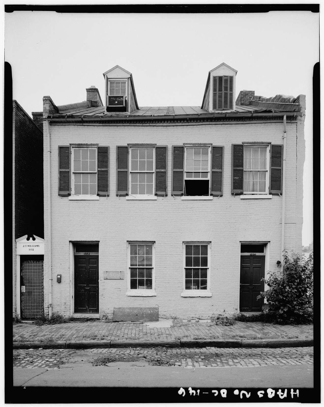 Joseph Careleton House, 1052-54 Potomac Street Northwest, Washington, District of Columbia, DC