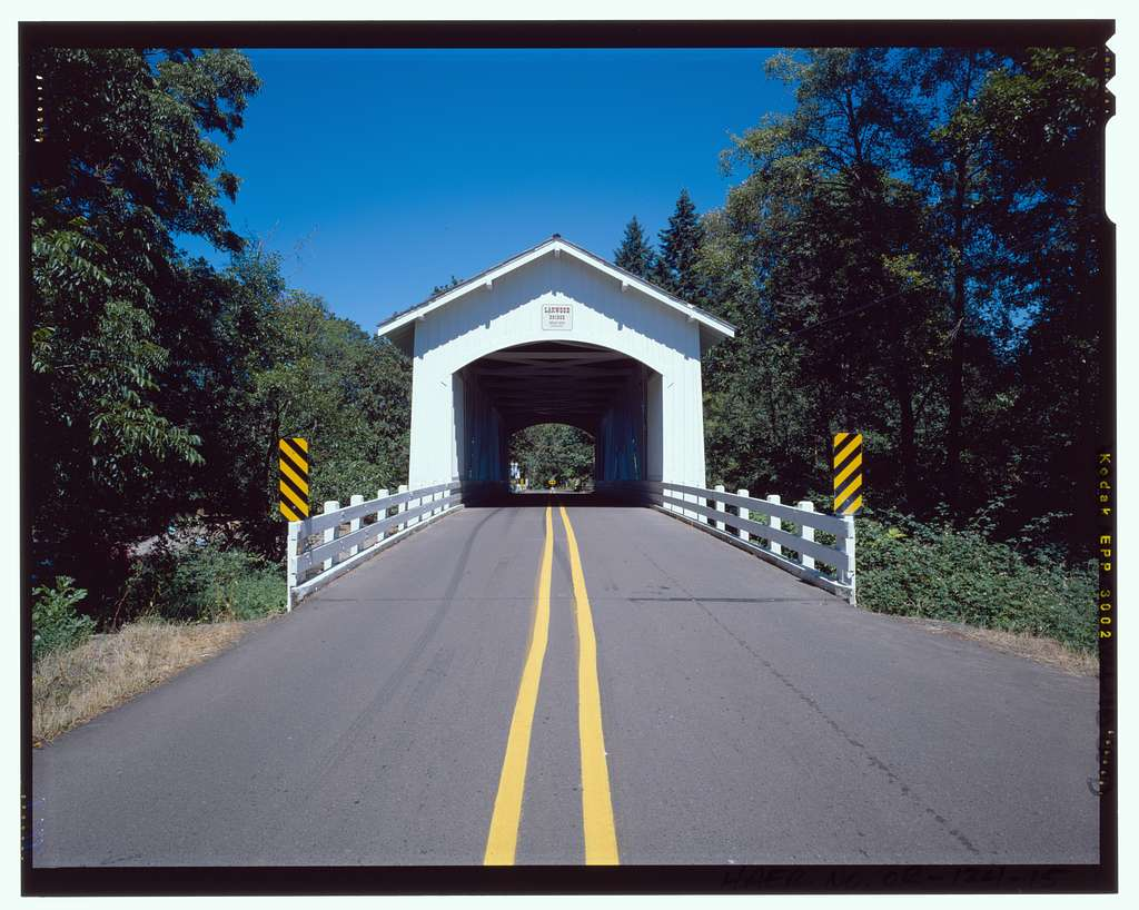 Larwood Bridge, Spanning Crabtree Creek, Fish Hatchery Road (CR 648), Lacomb, Linn County, OR