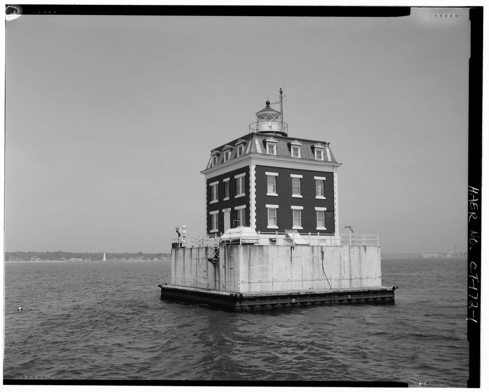 New London Ledge Lighthouse, Long Island Sound, East of main harbor channel, New London, New London County, CT