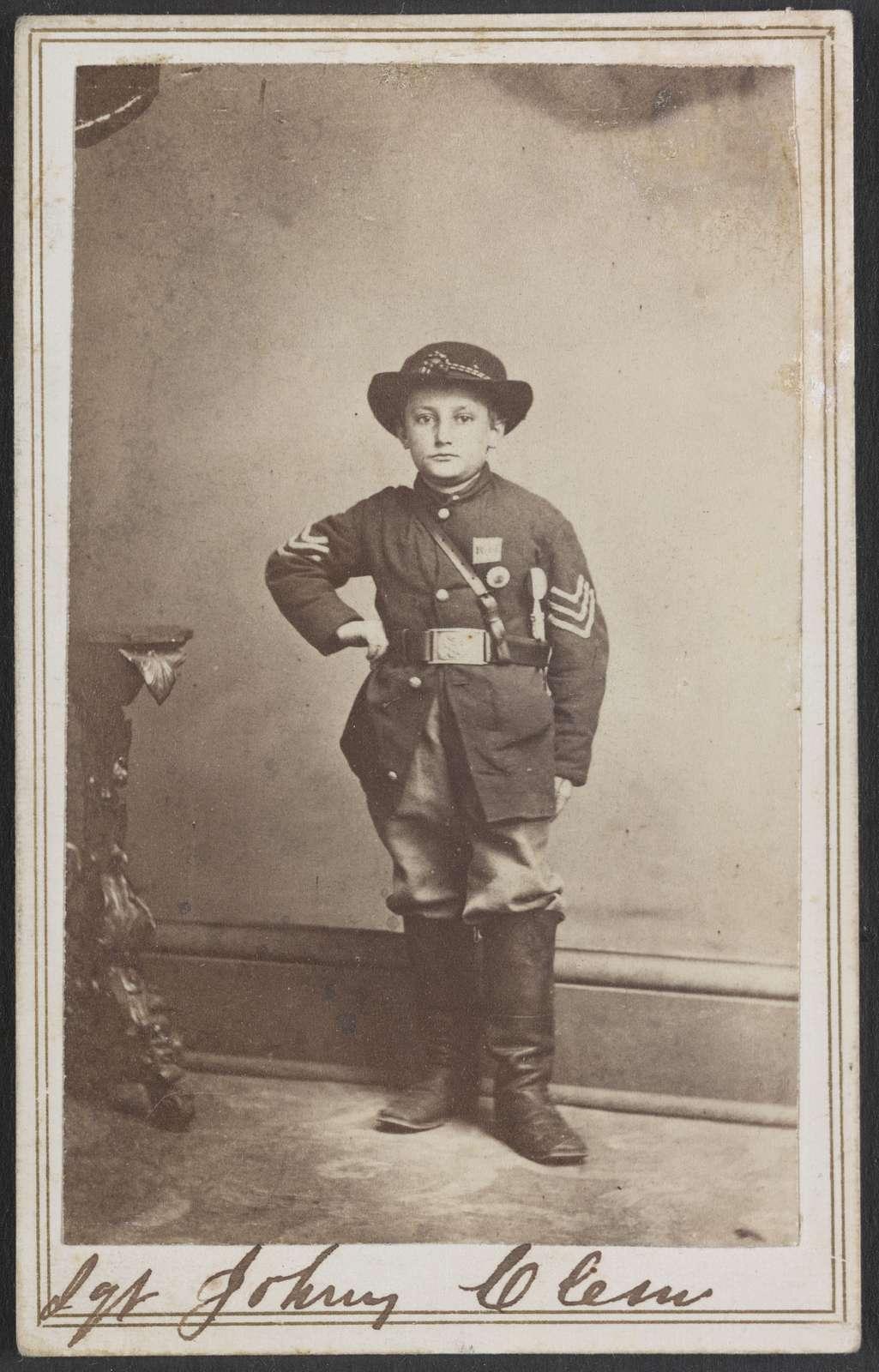 Union drummer boy John Clem,children,military,Point Lookout,Tennessee,TN,1863