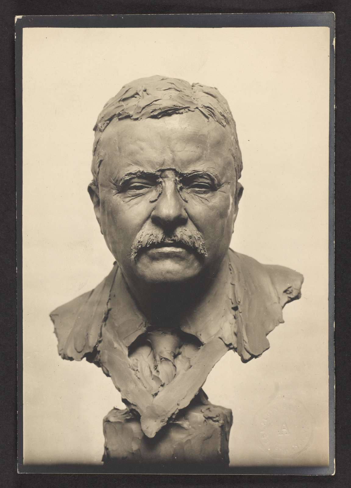 [Theodore Roosevelt, portrait bust, full front view]