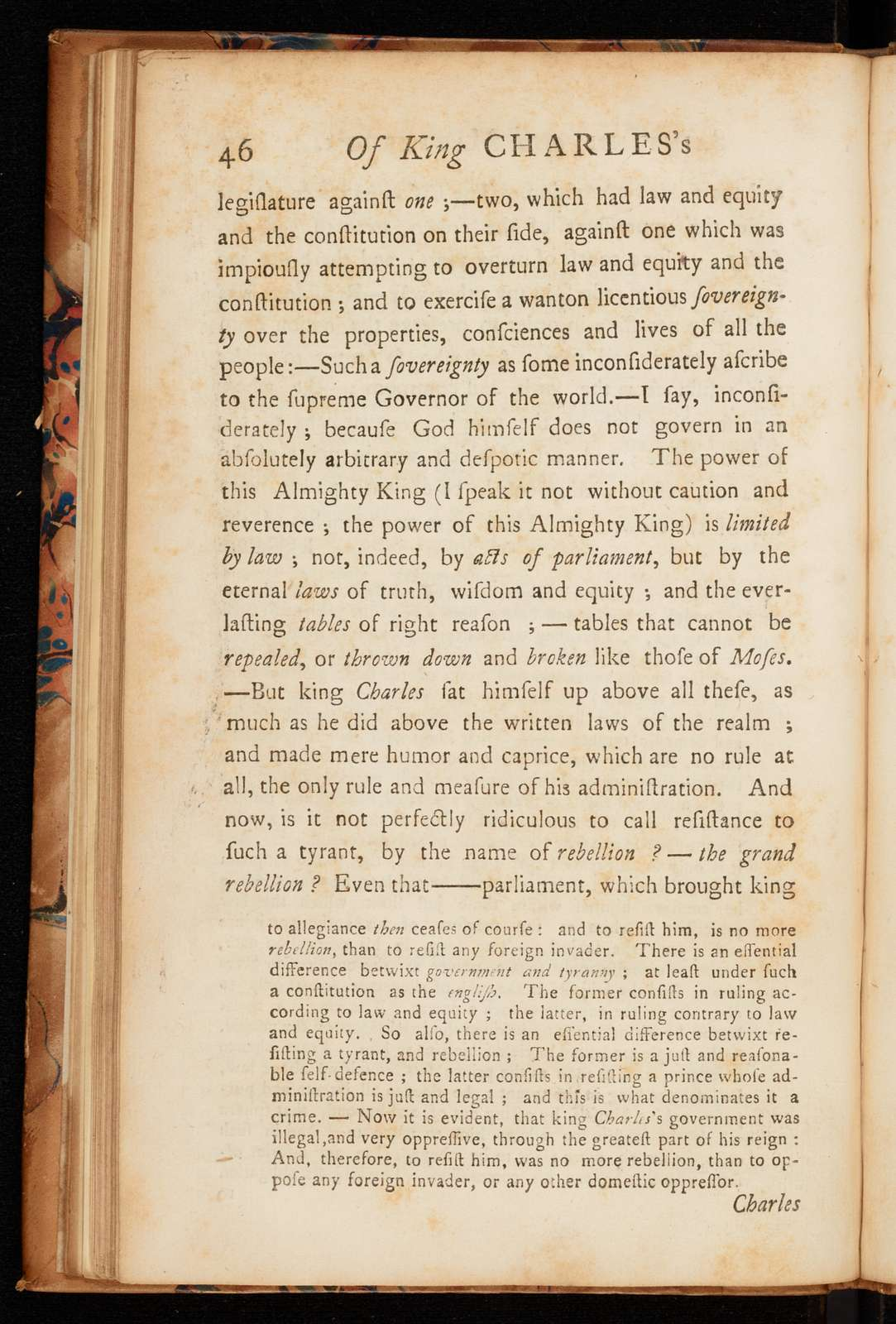 A discourse concerning unlimited submission and non-resistance to the higher powers; with some reflections on the resistance made to King Charles I. and on the anniversary of his death: in which the mysterious doctrine of the Princes' saintship and martyrdom is unriddled: the substance of which was delivered in a sermon preached in the West Meeting-House in Boston the Lord's-day after the 30th of January, 1749/50 ...