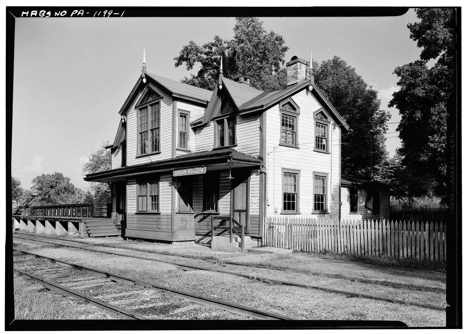 Cedar Hollow Railroad Station, Cedar Hollow Road (Tredyffrin Township), Paoli, Chester County, PA