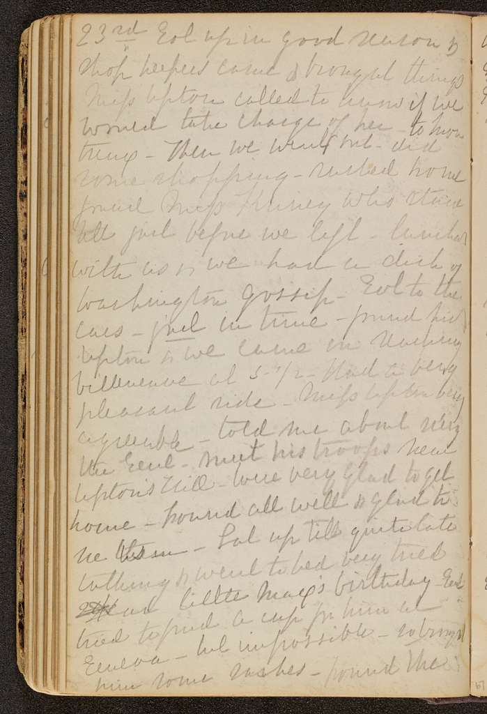 George Brinton McClellan Papers: Addition, 1866-1872; Diaries, Mary Ellen Marcy McClellan; 1866, May 6-1867, Dec. 31