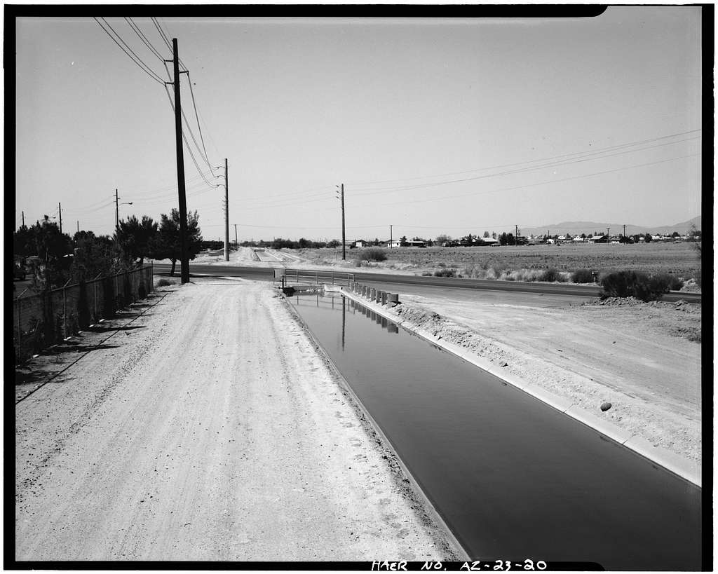 Highline Canal & Pumping Station, South side of Salt River between Tempe, Phoenix & Mesa, Tempe, Maricopa County, AZ