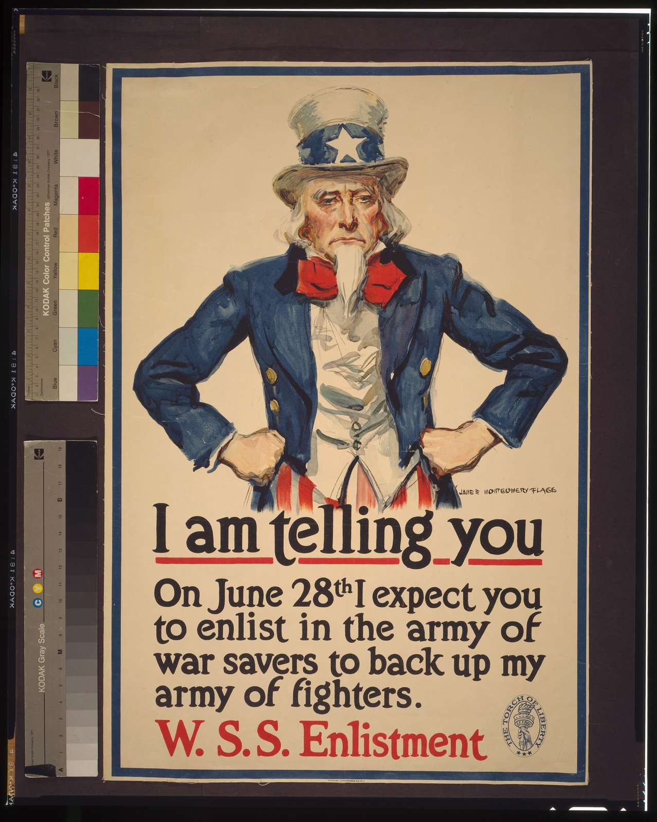 I am telling you--On June 28th I expect you to enlist in the army of war savers to back up my army of fighters / James Montgomery Flagg.