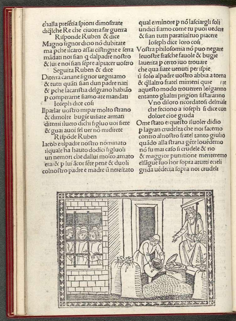 La rappresentazione di Giuseppe figliuolo di Giacobbe.
