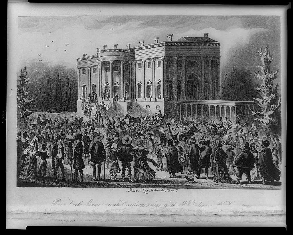 President's Levee, or all Creation going to the White House / Robert Cruikshank fect.