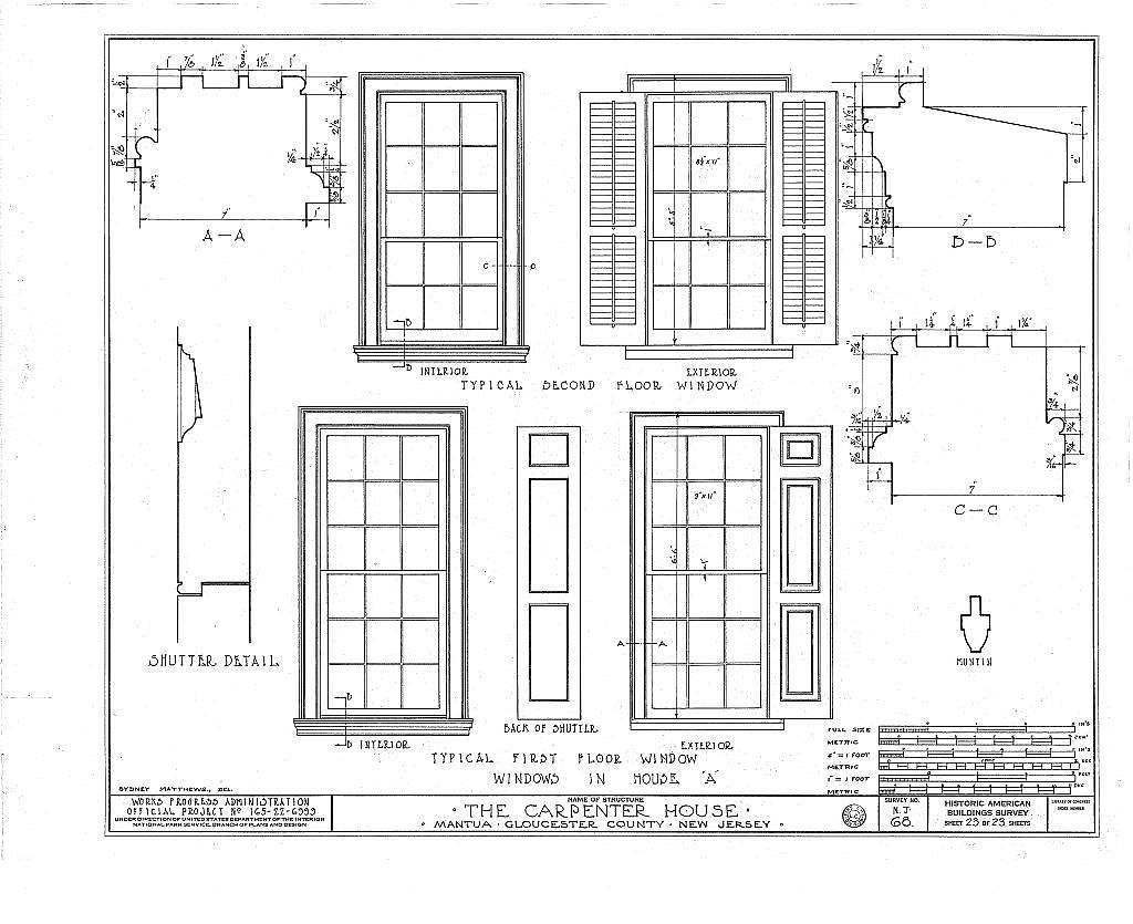 Thomas Carpenter House, Main & Martel Streets, Mantua, Gloucester County, NJ
