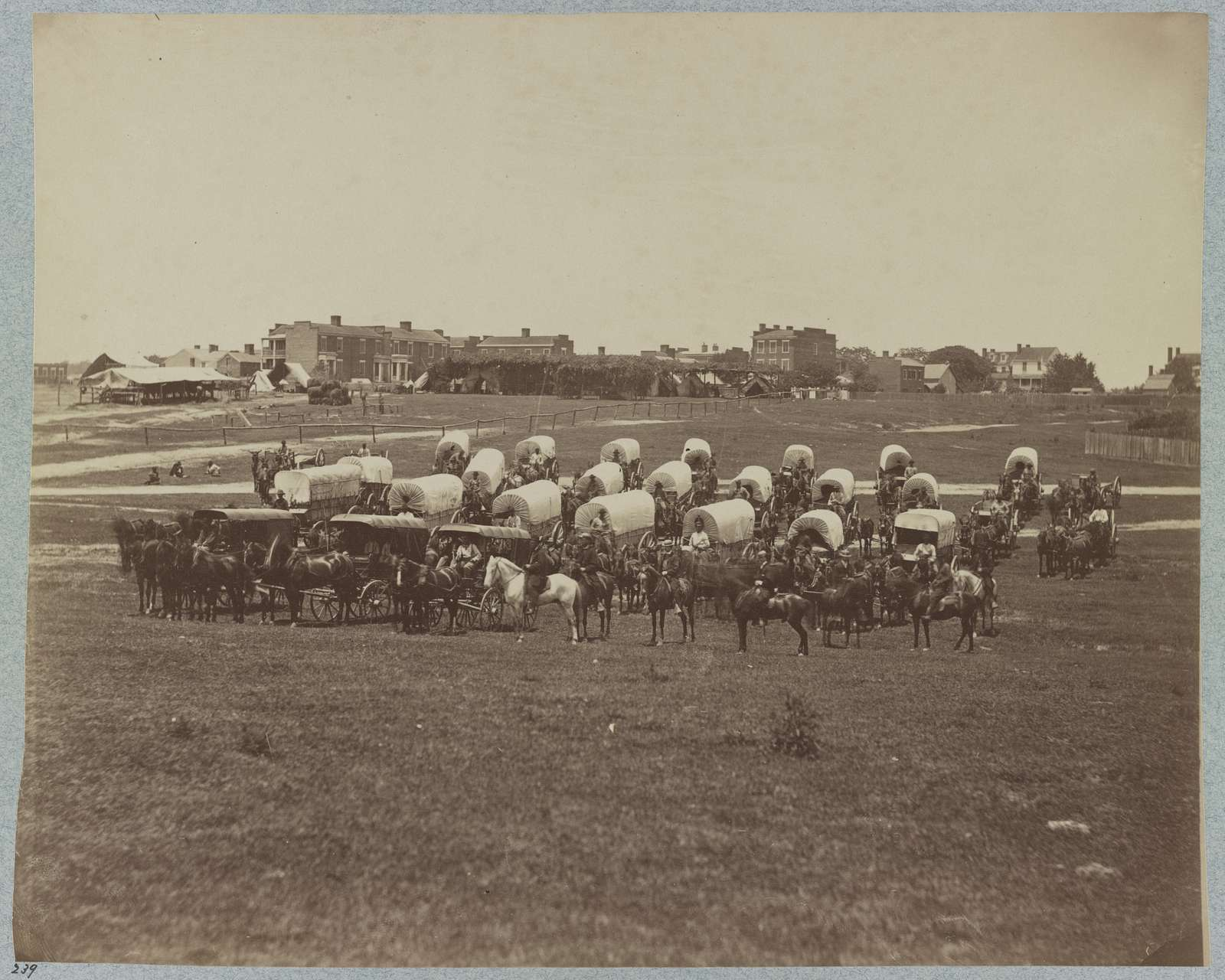 Wagon train of U.S. Military Telegraph Corps, Richmond, Va., April, 1865