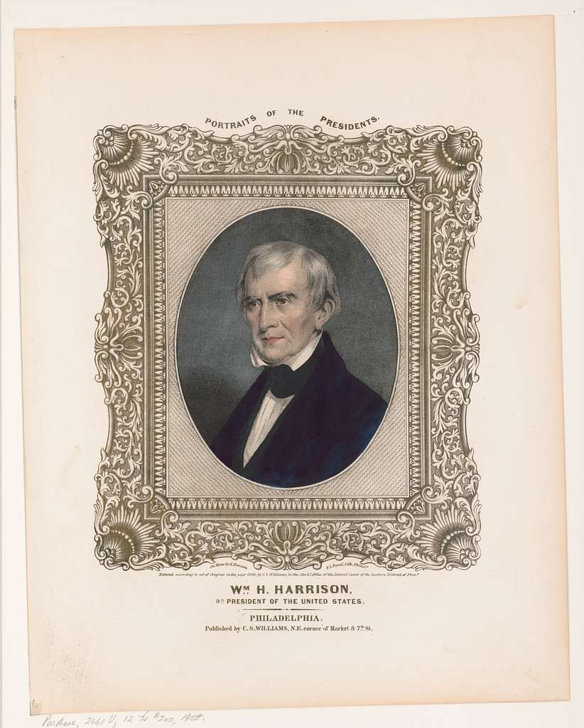 Wm. H. Harrison, 9th President of the United States / on stone by A. Newsam ; P.S. Duval, lith., Philada.