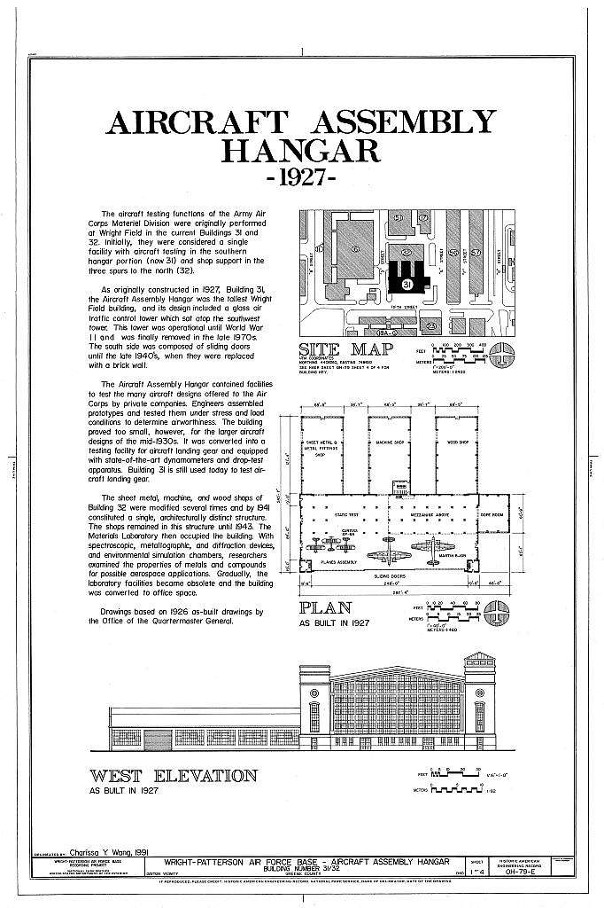 Wright-Patterson Air Force Base, Area B, Building No. 31, Aircraft Assembly Hangar, Dayton, Montgomery County, OH