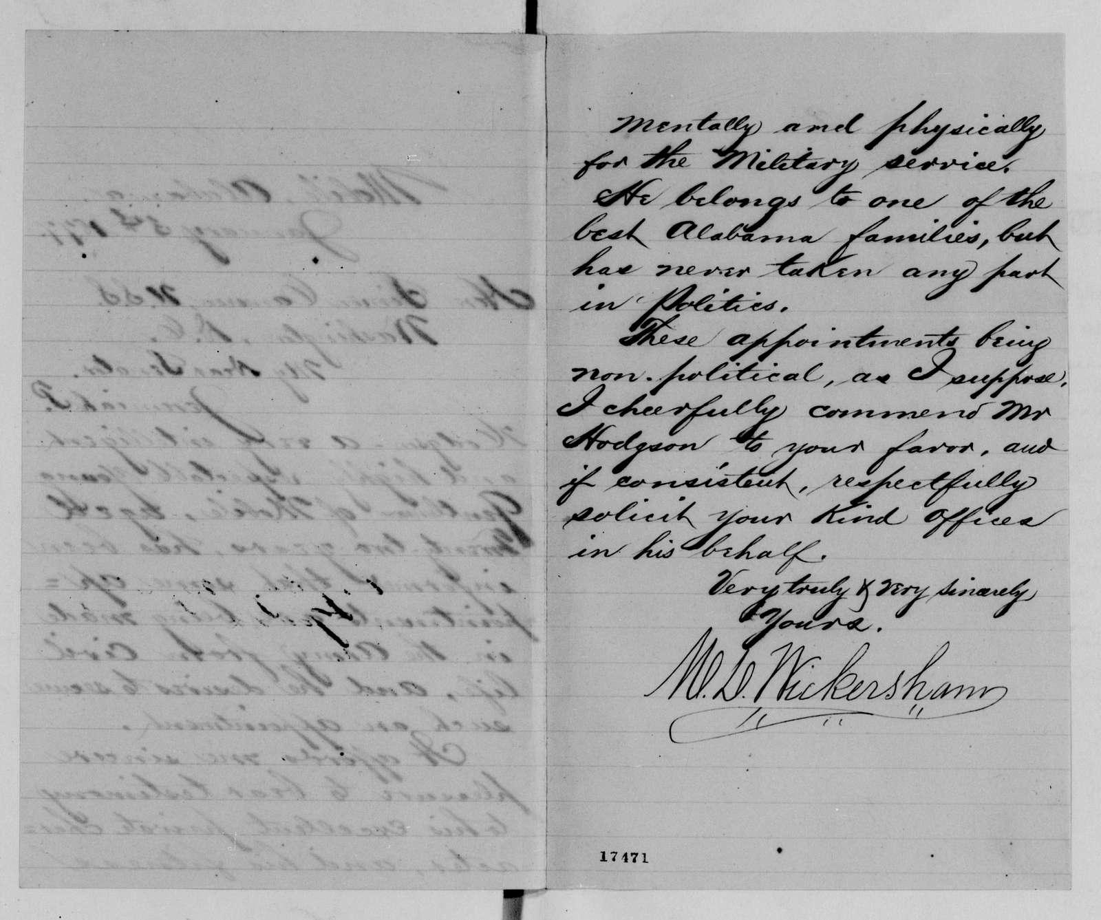 Alexander Hamilton Stephens Papers: General Correspondence, 1784-1886; 1876, Dec. 4-1877, Mar. 2