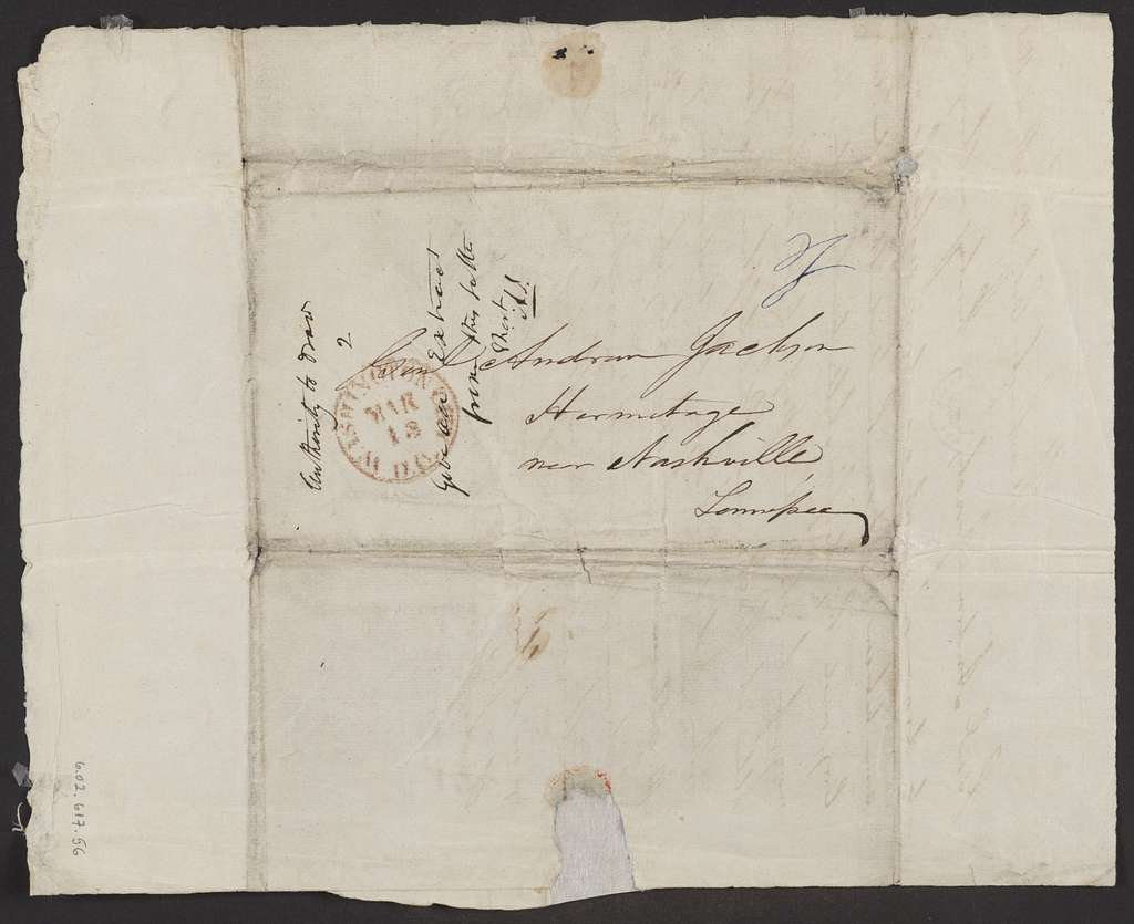 Blair & Rives to Andrew Jackson , March 12, 1845