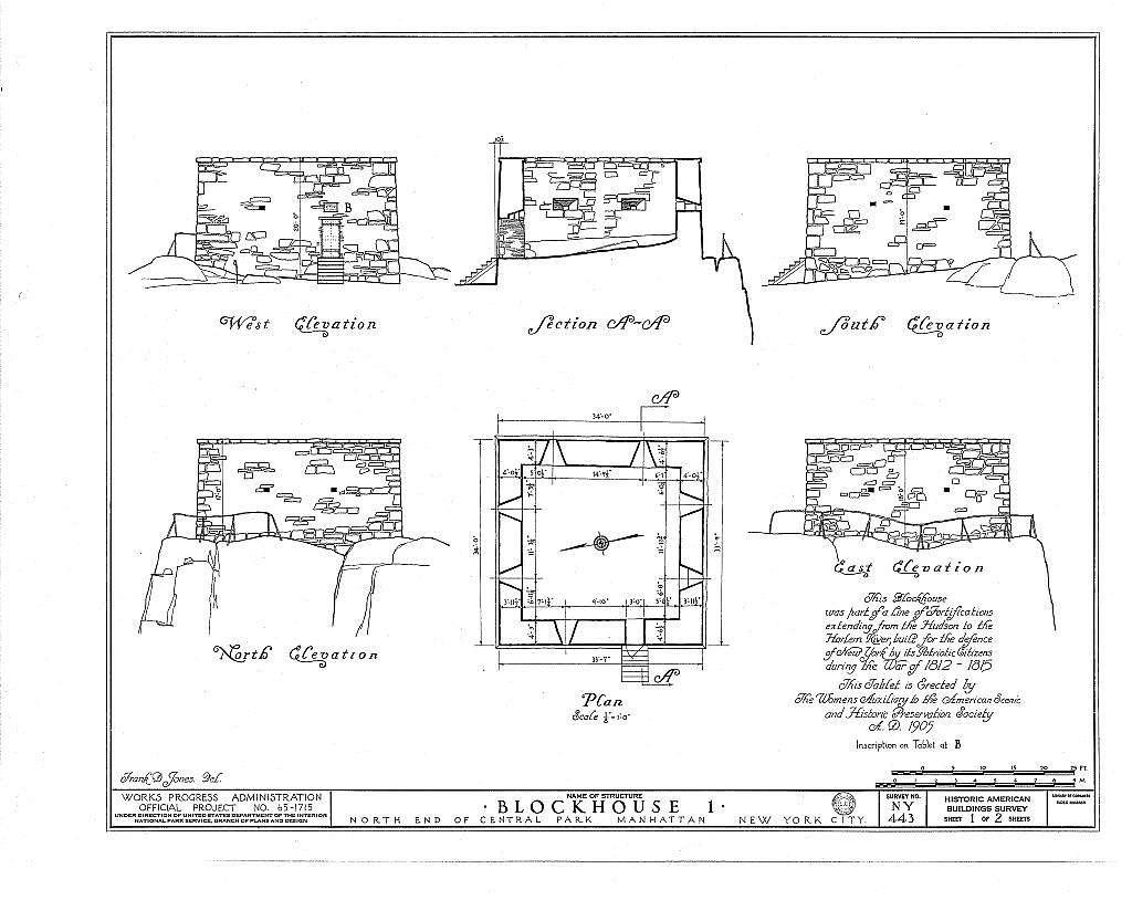 Block Houses (Nos. 1 & 2), Central (110th Street) & Morningside Parks (123rd Street), New York, New York County, NY