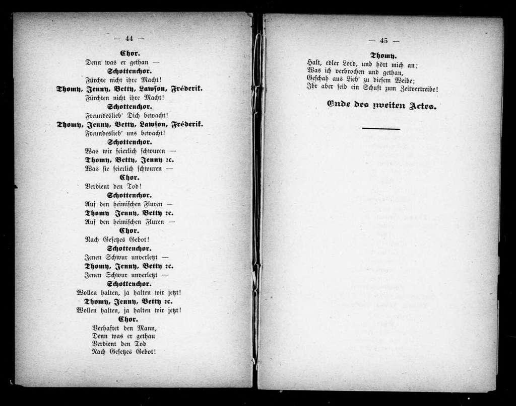 Ellishorn. Libretto. German