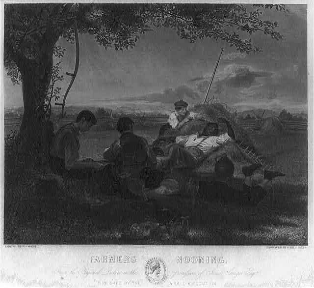 Farmers nooning, from the original picture in the possession of Jona. Sturges Esqr. / / Wm. S. Mount 1836 ; painted by W.S. Mount ; engraved by Alfred Jones.
