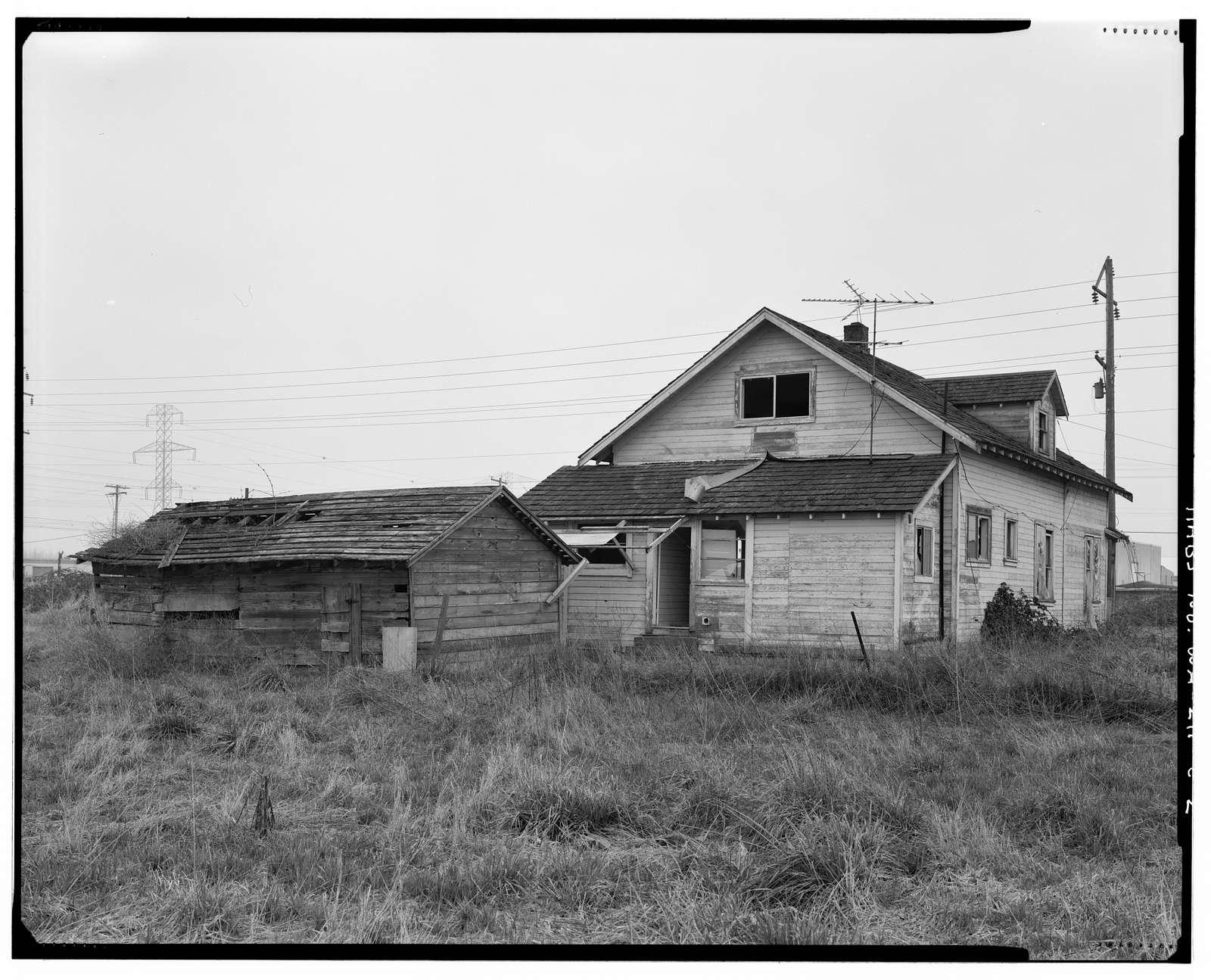 Kosai Farm, Farmhouse Shed, B Street north of Northwest Twenty-ninth Street, Auburn, King County, WA