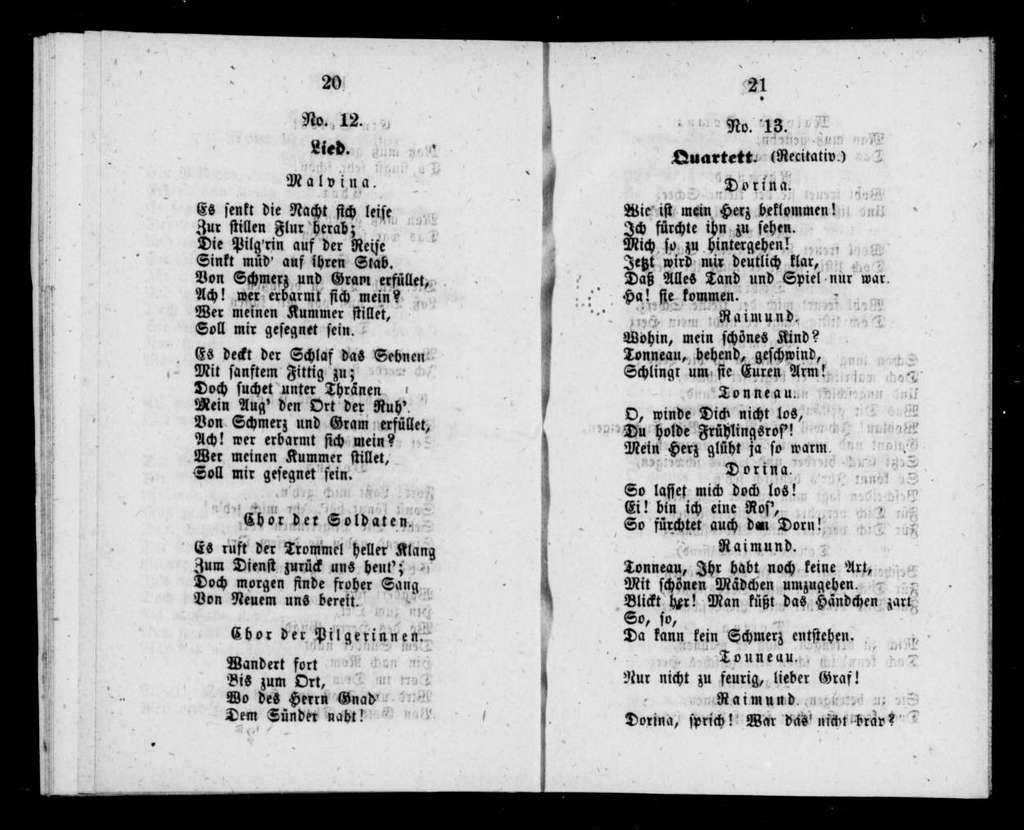 Malvina. Libretto. German