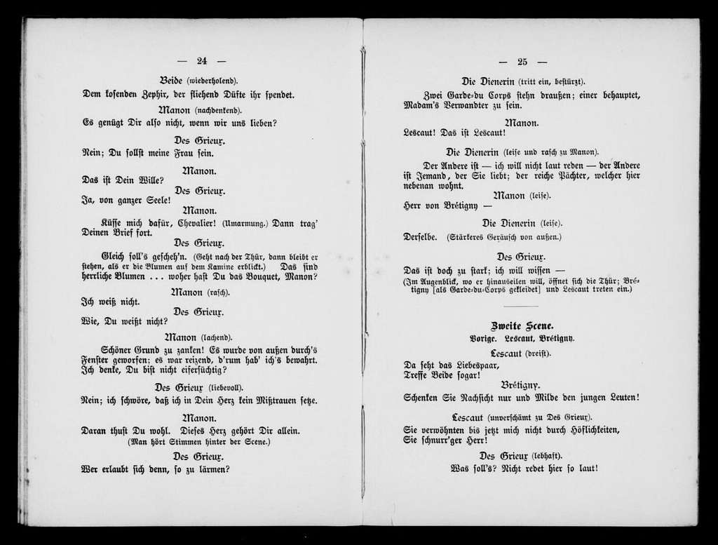 Manon. Libretto. German