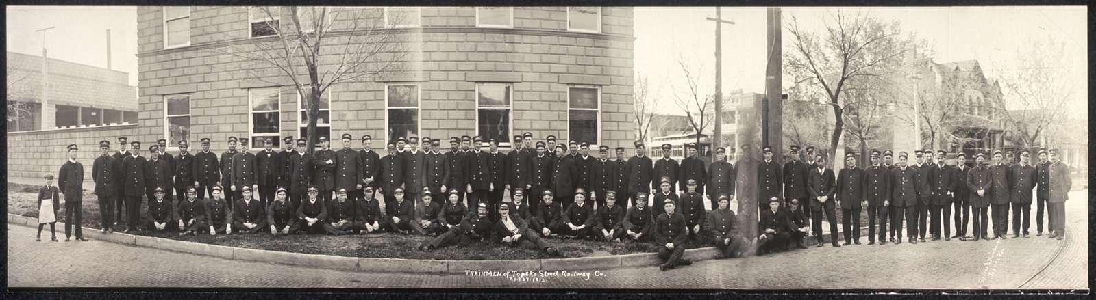 Trainmen of Topeka Street Railway Co., Apil [sic] 27, 1913