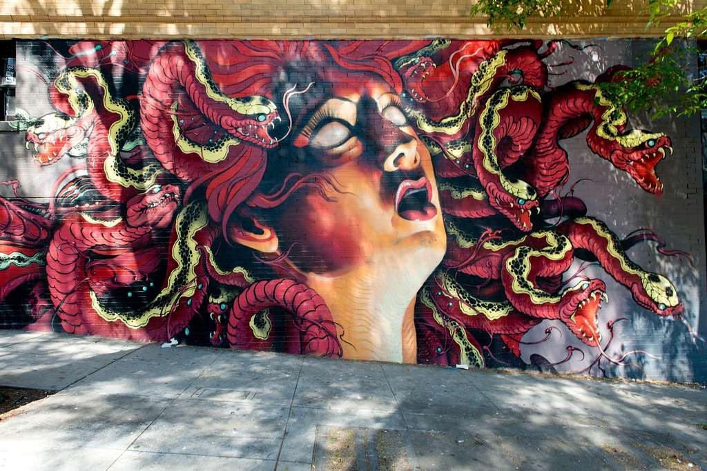 Untitled mural by Lango located in the Haight-Ashbury neighborhood, San Francisco, California