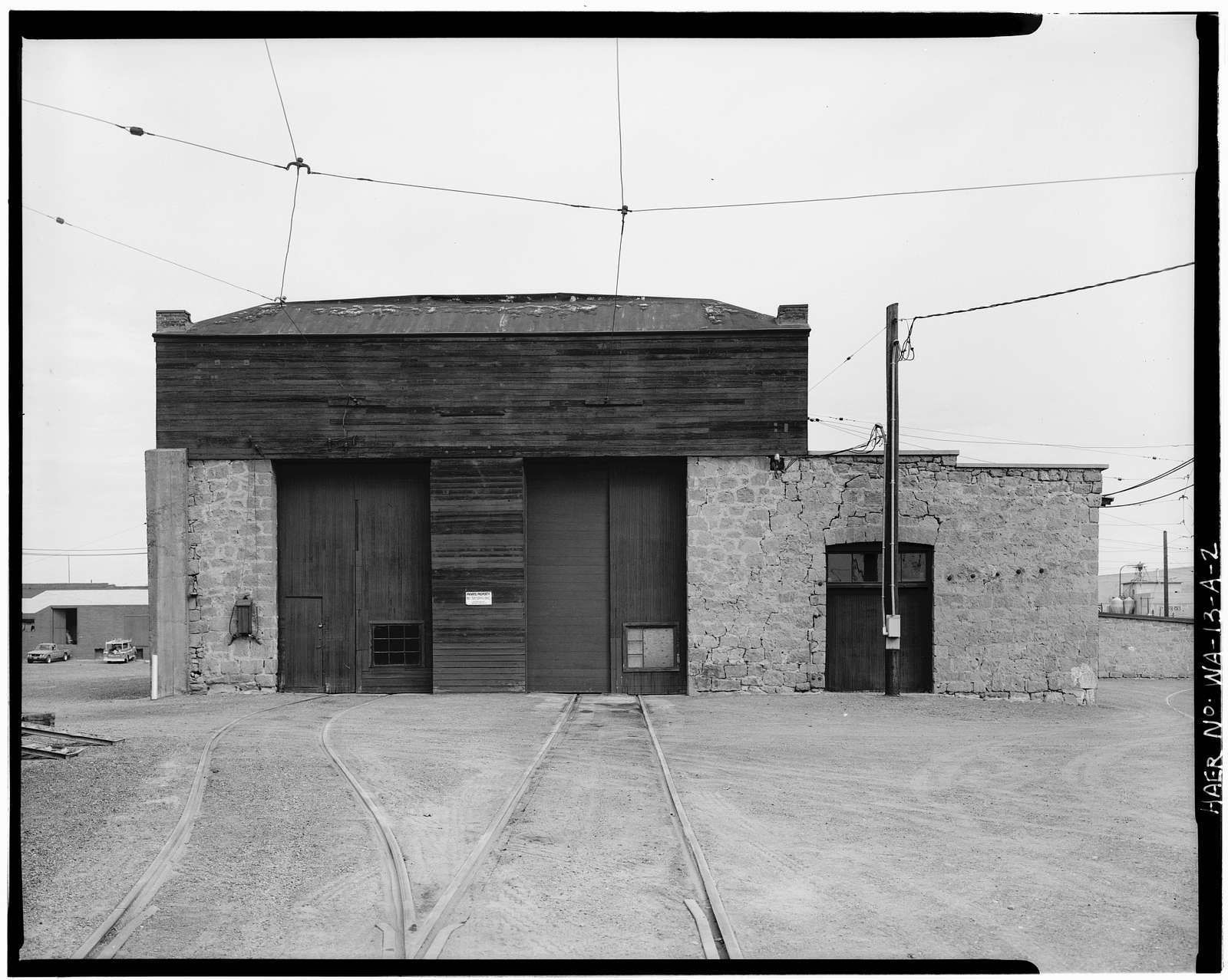 Yakima Valley Transportation Company Interurban Railroad, Carbarn, Third Avenue & Pine Street, Yakima, Yakima County, WA