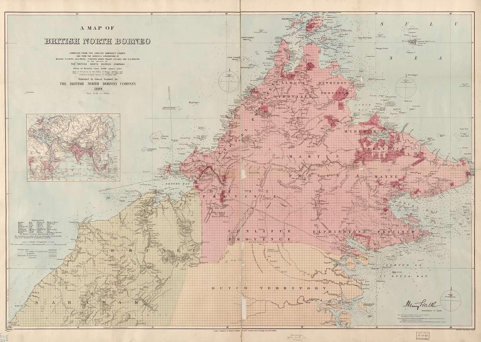 A map of British North Borneo /