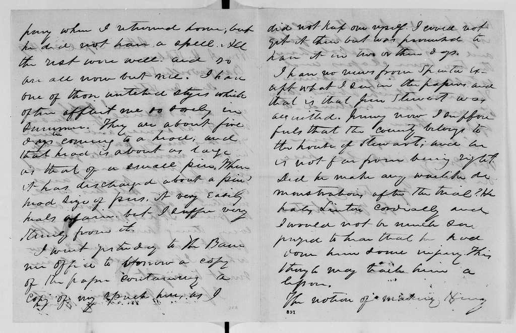 Alexander Hamilton Stephens Papers: General Correspondence, 1784-1886; 1858, Dec. 11-1859, July 15