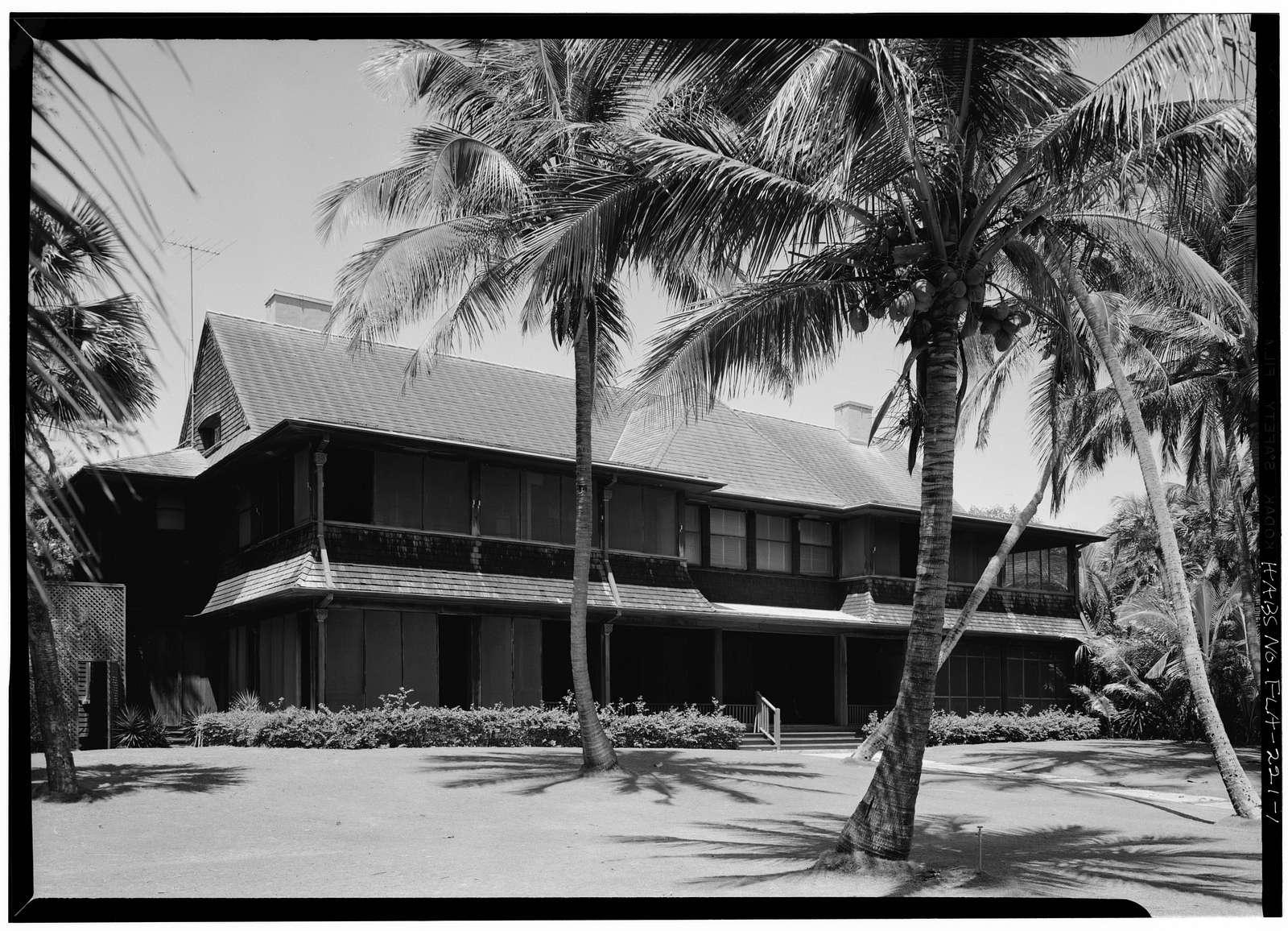Bingham-Blossom House, 1250 South Ocean Boulevard, Palm Beach, Palm Beach County, FL