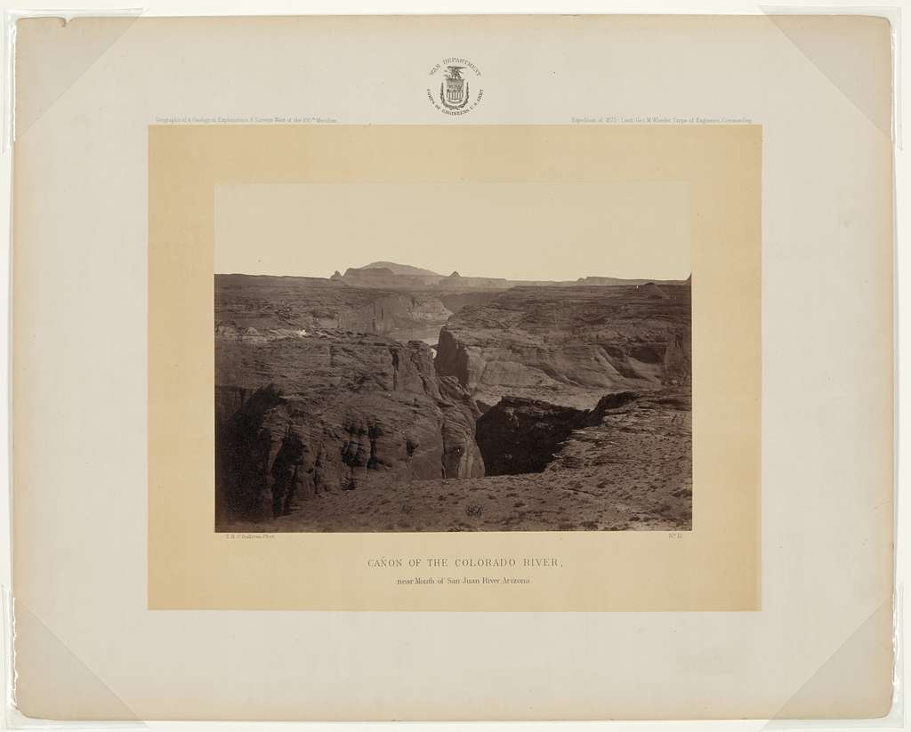 Cañon of the Colorado River, near mouth of San Juan River, Arizona / T. H. O'Sullivan, phot.
