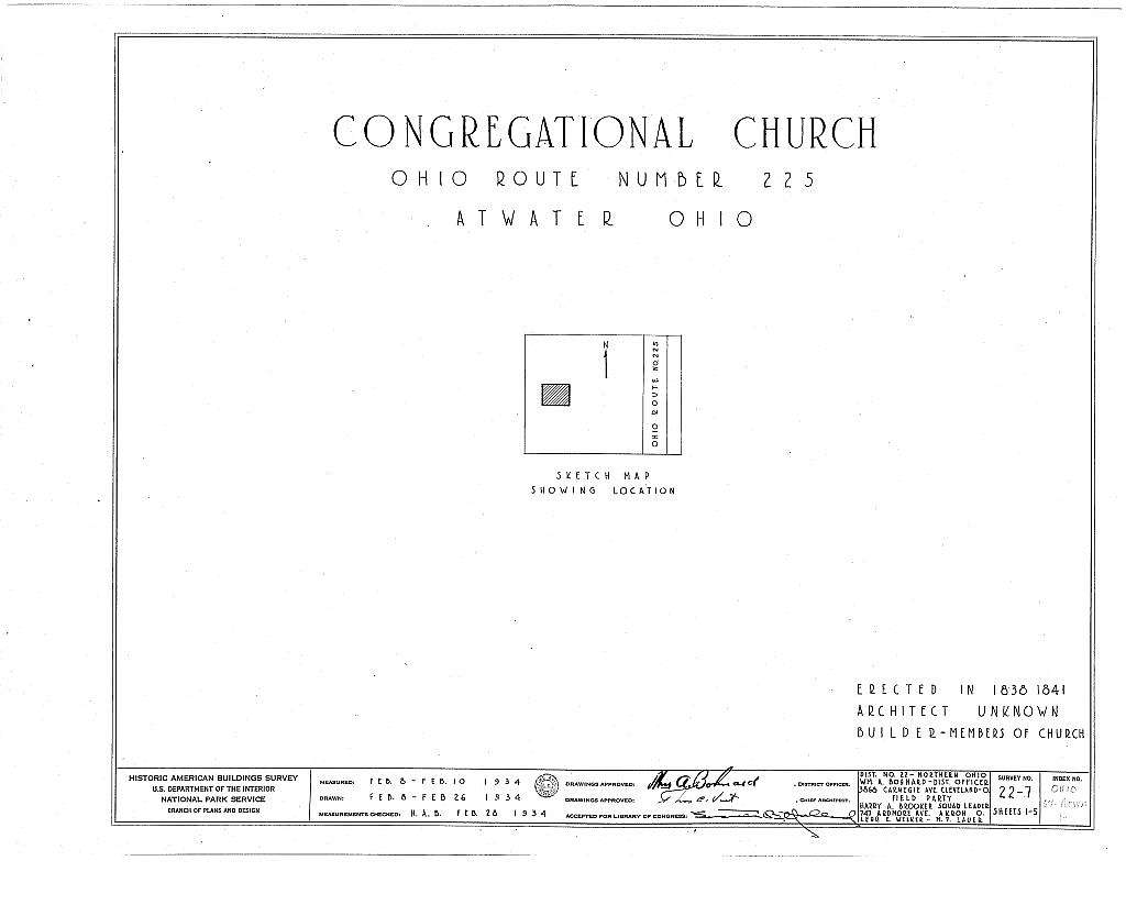 Congregational Church, Atwater, Portage County, OH